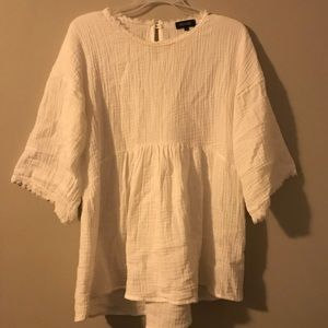 Roolee long sleeve white top